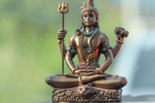 Lord Shiva Statue With Blur Ba...