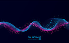 Soundwave Vector Abstract Back...