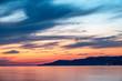Beautiful orange sunset over the sea.