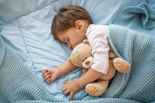 Adorable Kid Boy After Sleepin...