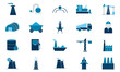 Industry icon set vector illustration used for website.