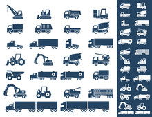 Icon Set, Heavy Duty Machines