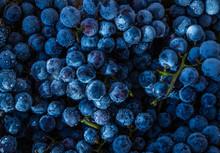 Frozen Blue  Grapes Close Up, Background