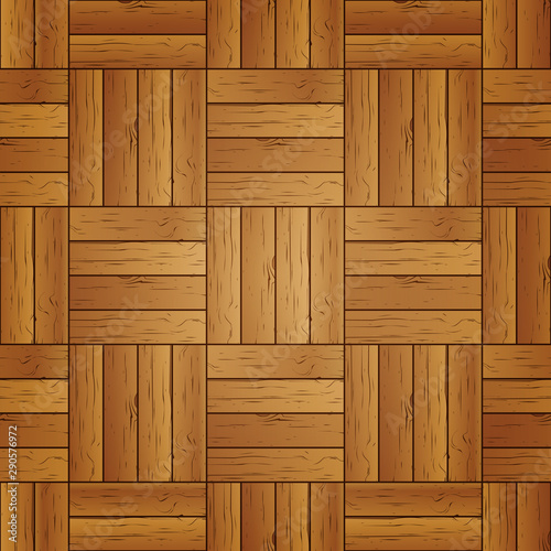 Fototapeta Seamless background of wooden parquet, vector illustration. obraz na płótnie
