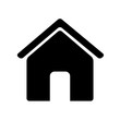 House icon isolated on background. Vector illustration.