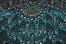 Blue And Brown Painted Dome Building Interior