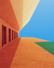 Brown And Green Building Illustration
