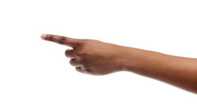 Woman's Hand Showing Number One With Fingers On White Background