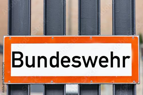 Bundes Wehr Hinweis Schild Canvas Print