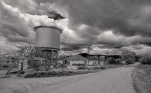 Grayscale Photography Of House...