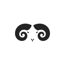 Mountain Ram. Logo. Mouflon He...
