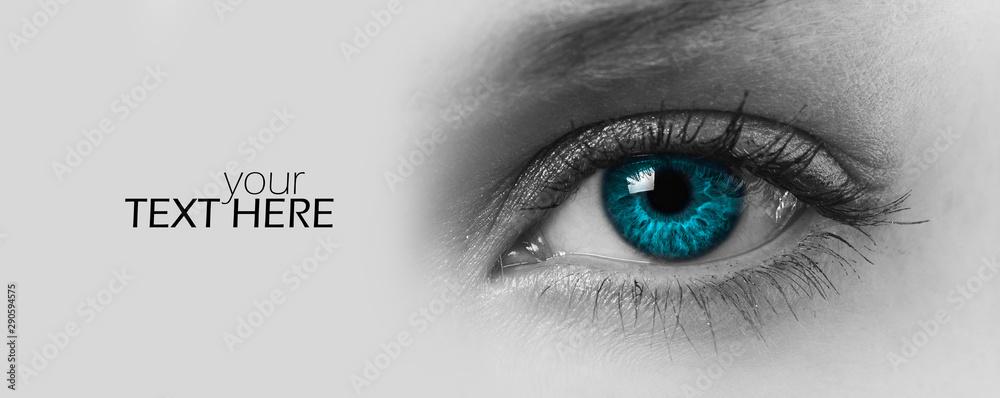 Fototapeta Female eye with the copy space