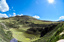 Moray Steps And Laboratory In Sacred Valley Of Peru