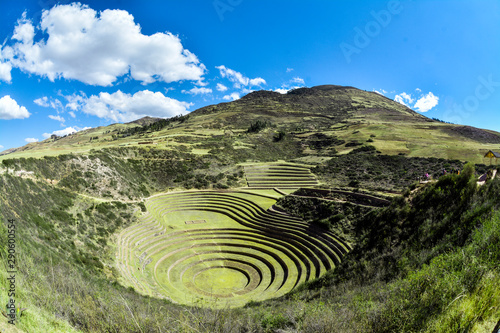 Fototapeta Moray steps and laboratory in Sacred Valley of Peru