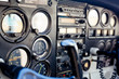 Small Airplane instrument panel in flight