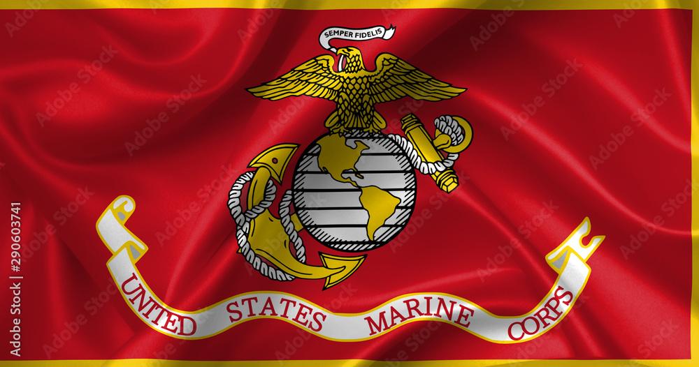 Fototapety, obrazy: united states marine corps flag
