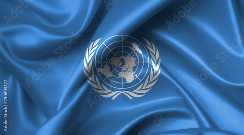un flag - United Nations Tablou Canvas