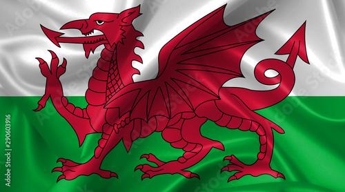 Obraz na plátně wales flag
