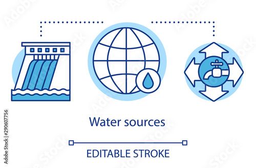 Photo Water sources concept icon