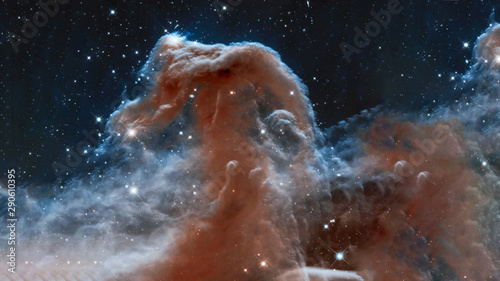 Tuinposter Heelal The Horsehead Nebula upper ridge illuminated by Sigma Orionis. Science astronomy concept wallpaper. Elements of this image were furnished by NASA, ESA