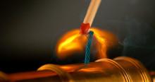 MACRO: Burning Match Lights Up...