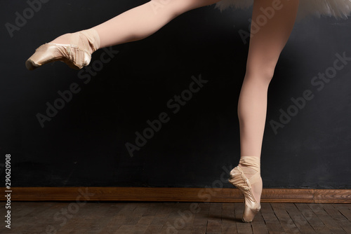 Spoed Fotobehang Gymnastiek legs of ballerina