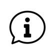 Leinwanddruck Bild - Info speech bubble symbol