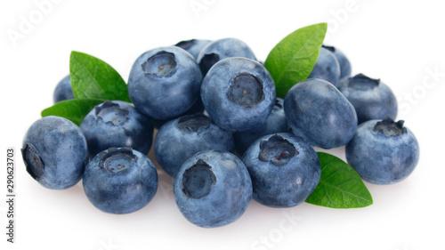 Foto op Canvas Vruchten Fresh blueberry on white background