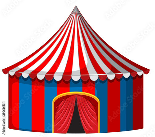 Keuken foto achterwand Kids Circus tent in red and blue