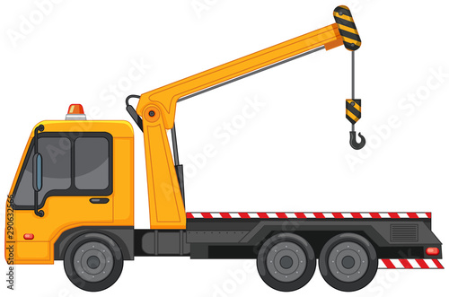 La pose en embrasure Jeunes enfants Tow truck with metal hook on white background
