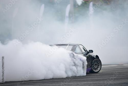 Cuadros en Lienzo Motion Blur side view drift car
