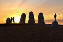 Sunrise At Playa Brava Beach In Punta Del Este, Uruguay