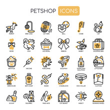 Pet Shop , Thin Line And Pixel Perfect Icons