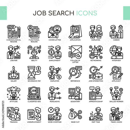 Photo Job Search , Thin Line and Pixel Perfect Icons