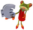 canvas print picture Fun frog - 3D Illustration