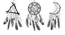 Hand Drawn Dream Catchers