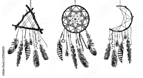 Fototapeta Hand drawn Dream catchers obraz