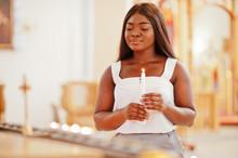 African American Woman Praying...