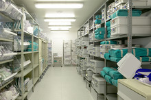 Hospital Indoor Storage Room. ...
