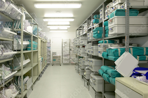 Stampa su Tela  Hospital indoor storage room. Health center repository