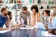 Leinwandbild Motiv Entrepreneurs and business people conference in meeting room