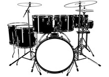 Black And White Drums Drawing ...