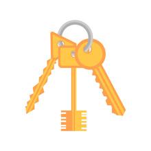 Bunch Of Keys Icon. Vector Illustration.