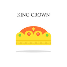 Gold King Crown Or Tiara. Flat...