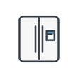 Refrigerator color line icon. Home appliance vector outline colorful sign.