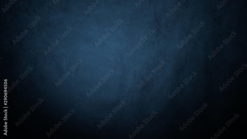 Fototapeta Dark, blurred, simple background, blue black abstract background blur gradient