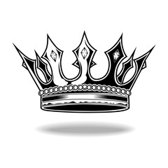 Crown Black And White King Queen Vector 22