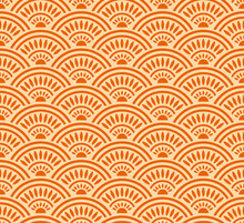 Japanese Sunshine Wave Seamless Pattern