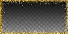 Round Gold Glitter Luxury Spar...