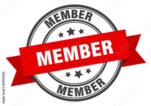 member label. member red band sign. member Poster Mural XXL